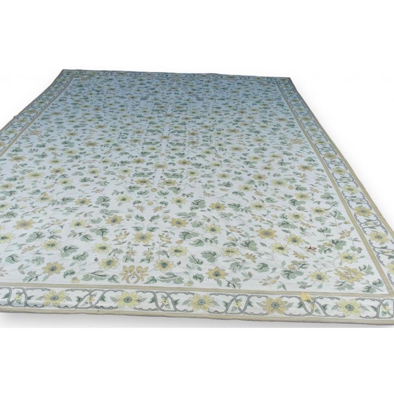 Teppich Aubusson Gelb Grun Wolle Moinat Sa Antiquites Decoration