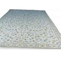 奥布松地毯黄绿色的羊毛。