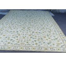 Teppich Aubusson gelb-grün, wolle.