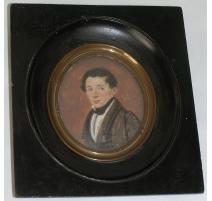 """Miniature """"Homme"""", datée 1824."""
