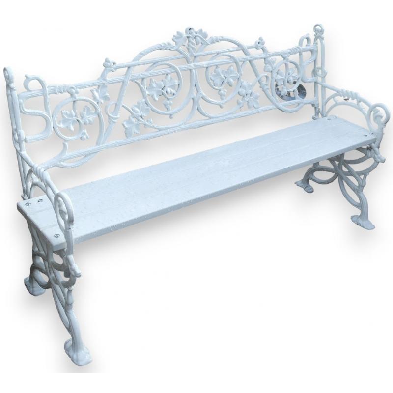 banc lierre en fonte d 39 aluminium sur moinat sa antiquit s d coration. Black Bedroom Furniture Sets. Home Design Ideas