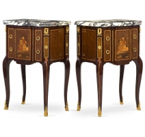 Pair of Bedside Tables style Transitional