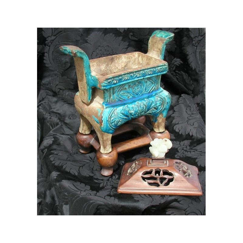 br le parfum verniss bleu turquoise sur moinat sa antiquit s d coration. Black Bedroom Furniture Sets. Home Design Ideas