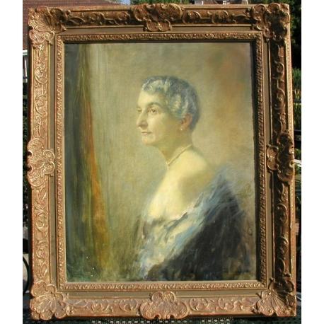 Peintures Tableau Portrait De Femme Signé Junker Moinat Sa