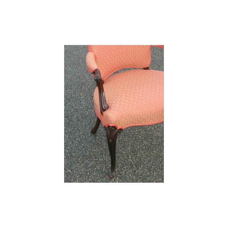 fauteuil anglais recouvert avec tissu orange sur moinat sa antiquit s d coration. Black Bedroom Furniture Sets. Home Design Ideas