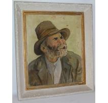 Tableau Portrait signé LANIER