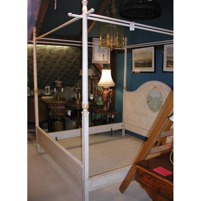 Himmelbett aus holz lackiert - Moinat SA - Antiquités décoration