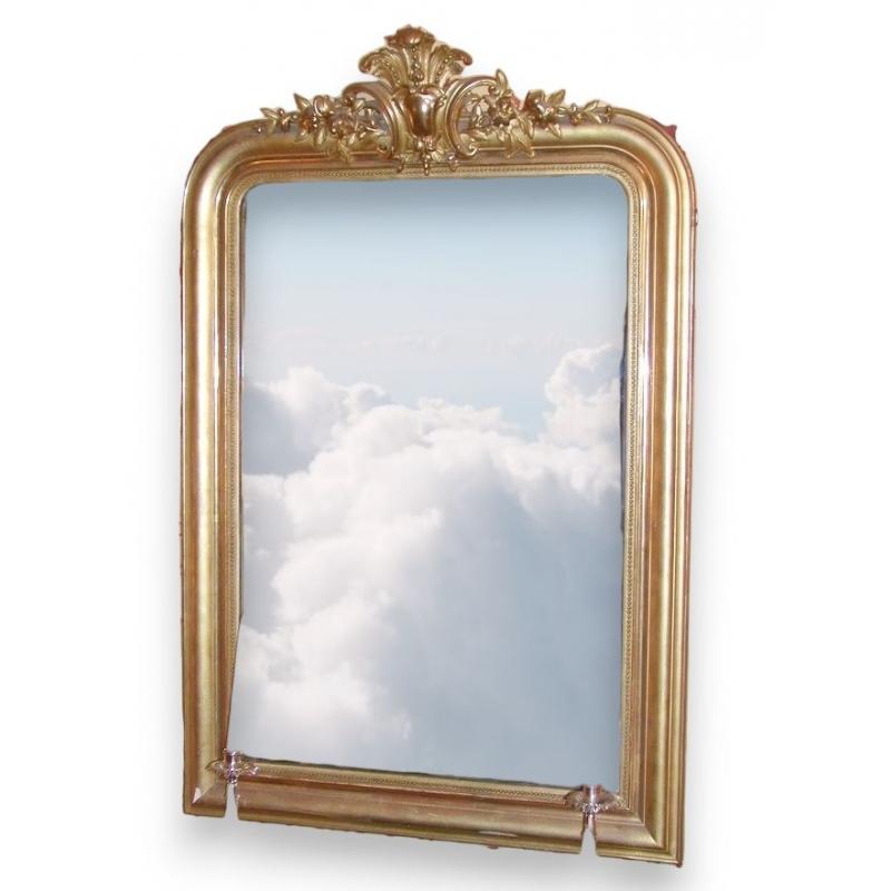 Miroir louis philippe avec verre au mercure sur moinat sa for Miroir au mercure