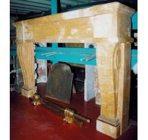 Kamin Restaurierung, marmor gelb
