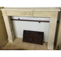 Fireplace in cut stone style Louis