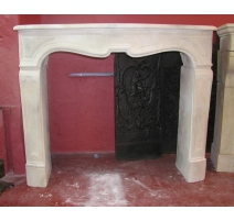Stone fireplace carved Regency style
