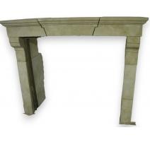 壁炉、charentaise石灰石