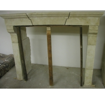 Fireplace, charentaise limestone