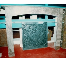 Fireplace Directoire style marble