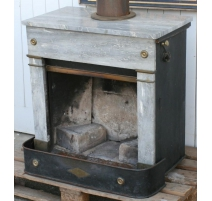 Fireplace Parisian marble grey