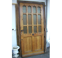 Door with 12 small windows.