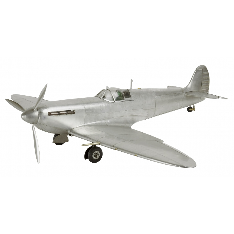 Modèle d'avion Spitfire en aluminium sur Moinat SA - Antiquités décoration