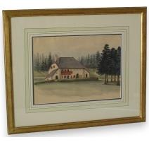 """Watercolor switzerland """"Montchambot , Jura"""