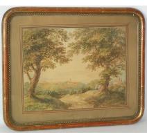 "Watercolor switzerland on paper ""Landscape"""