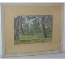 Watercolor switzerland on paper