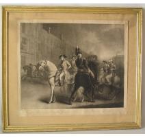 """Gravure anglaise sur papier """"Bonaparte"""""""
