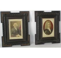 """Paire de tableaux """"Portraits d'hommes"""","""