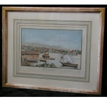"Print ""View of Geneva"" signed"