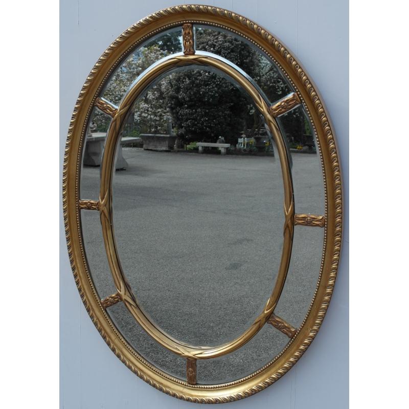 miroir ovale cloisons et verre sur moinat sa