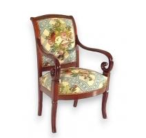 Paire de fauteuils Louis-Philippe à crosses.