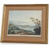 """Gravure. """"Vue de Genève"""" par HACKERT. 1782."""