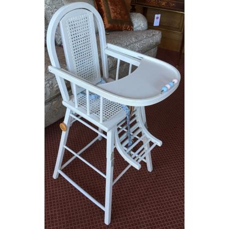 chaise haute d 39 enfant dossier et si ge sur moinat sa antiquit s d coration. Black Bedroom Furniture Sets. Home Design Ideas