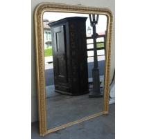 Miroir Louis-Philippe, en bois doré.