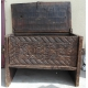 Coffre Afghan en bois sculpté