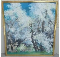 "Aquarell auf papier, ""grünen Bäumen und"