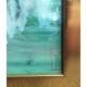 """Aquarelle sur papier """"Arbres verts et"""