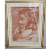 """Sanguine """"Portrait de femme à la"""