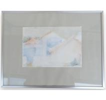 """Aquarelle """"Maisons"""", signée JJ GUT"""
