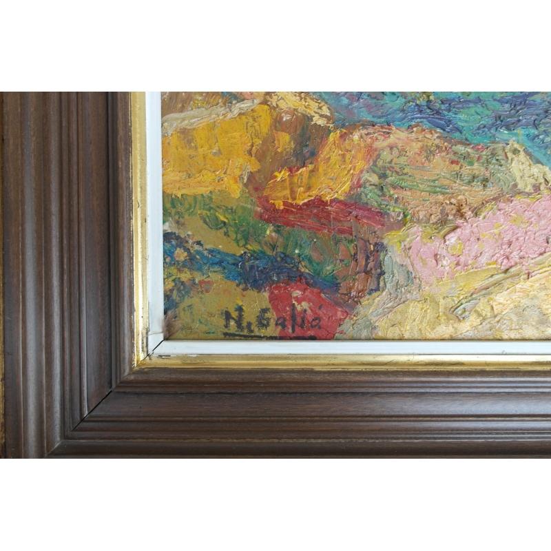 peintures tableau huile sur toile rochers en moinat sa. Black Bedroom Furniture Sets. Home Design Ideas