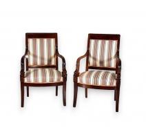 Salon Empire comprenant 1 canapé et 6 fauteuils.