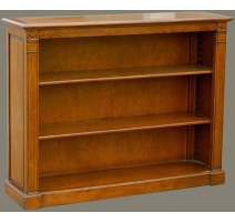 Bookshelves to pilasters with two shelves,