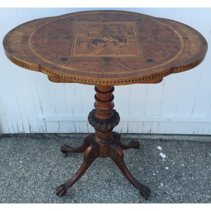 table de couture ovale su doise sur moinat sa antiquit s d coration. Black Bedroom Furniture Sets. Home Design Ideas