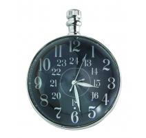 """Uhr kugel """"Auge der Zeit"""" vernickelt"""