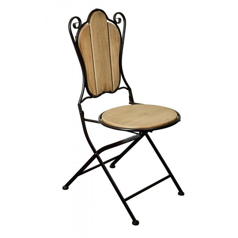 Chaise pliante pergola en fer forg et sur moinat sa for Chaise en fer