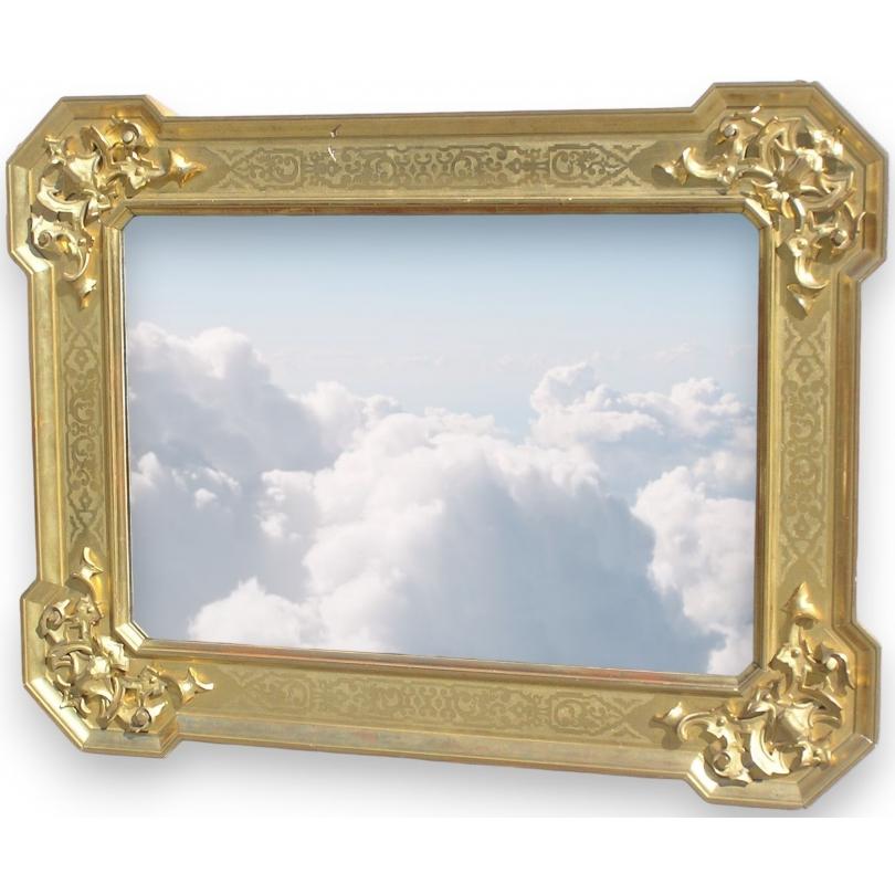 miroir baroque en bois dor italie sur moinat sa antiquit s d coration. Black Bedroom Furniture Sets. Home Design Ideas