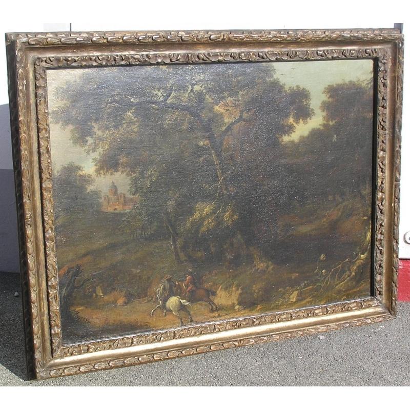 peintures tableau huile sur toile ch teau moinat sa antiquit s d coration. Black Bedroom Furniture Sets. Home Design Ideas