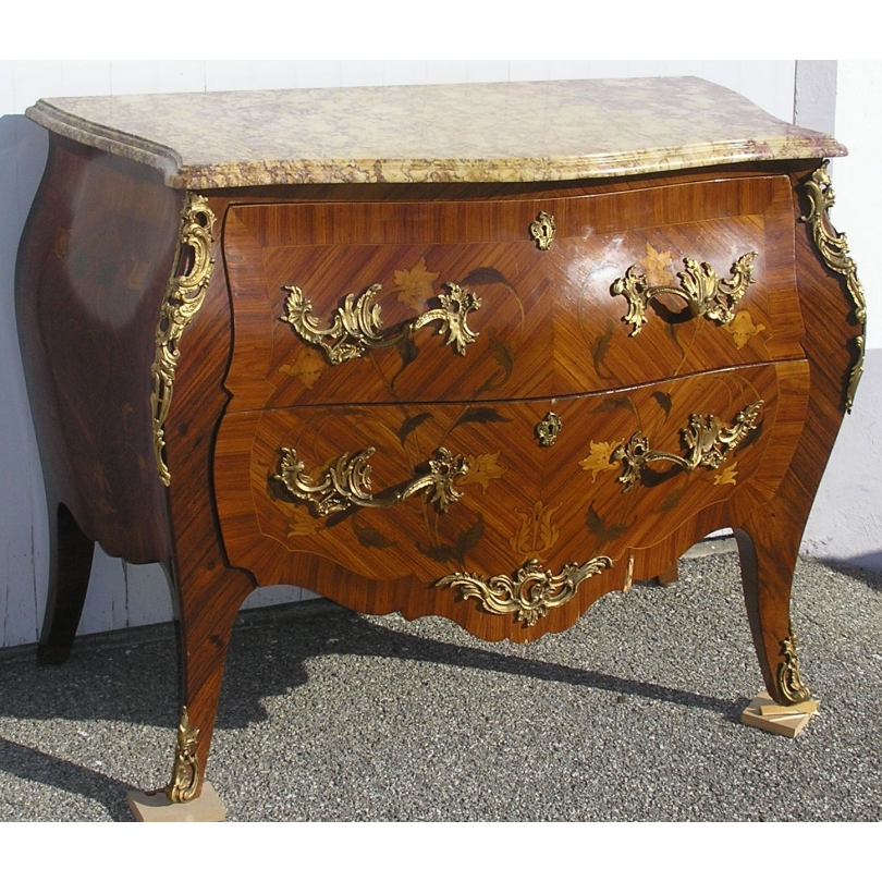 Commode Louis XV avec 2 tiroirs, en