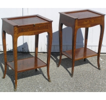 Pair of Bedside Tables Louis XV, wood