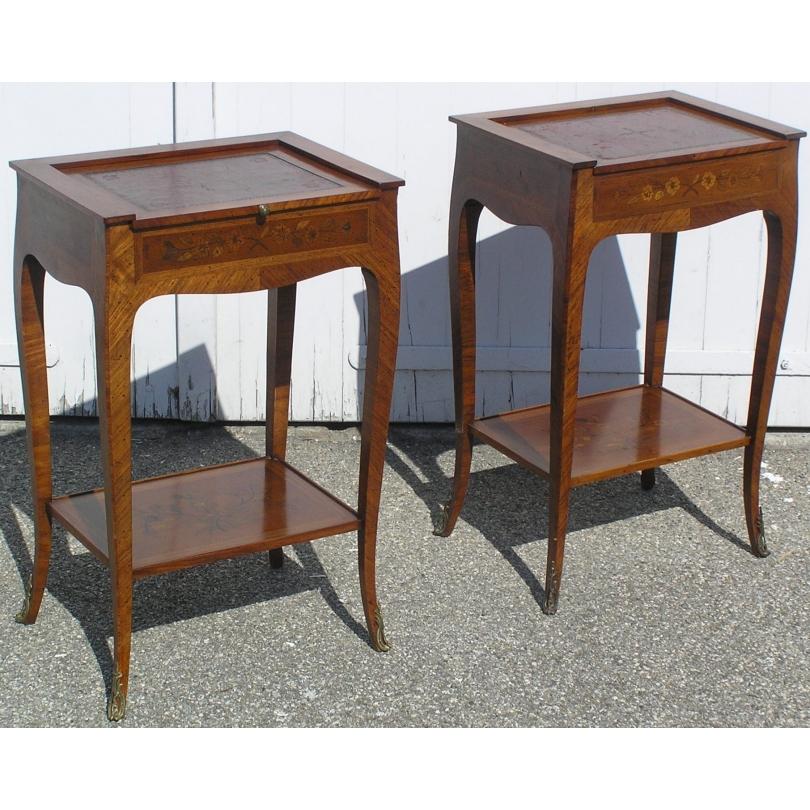 paire de tables de chevets louis xv en bois de sur moinat sa antiquit s d coration. Black Bedroom Furniture Sets. Home Design Ideas