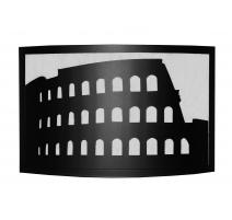 """Pare-feu en époxy noir """"Colosseo"""""""