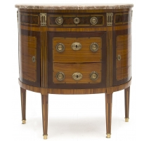 Commode demi-lune de style Louis XVI,